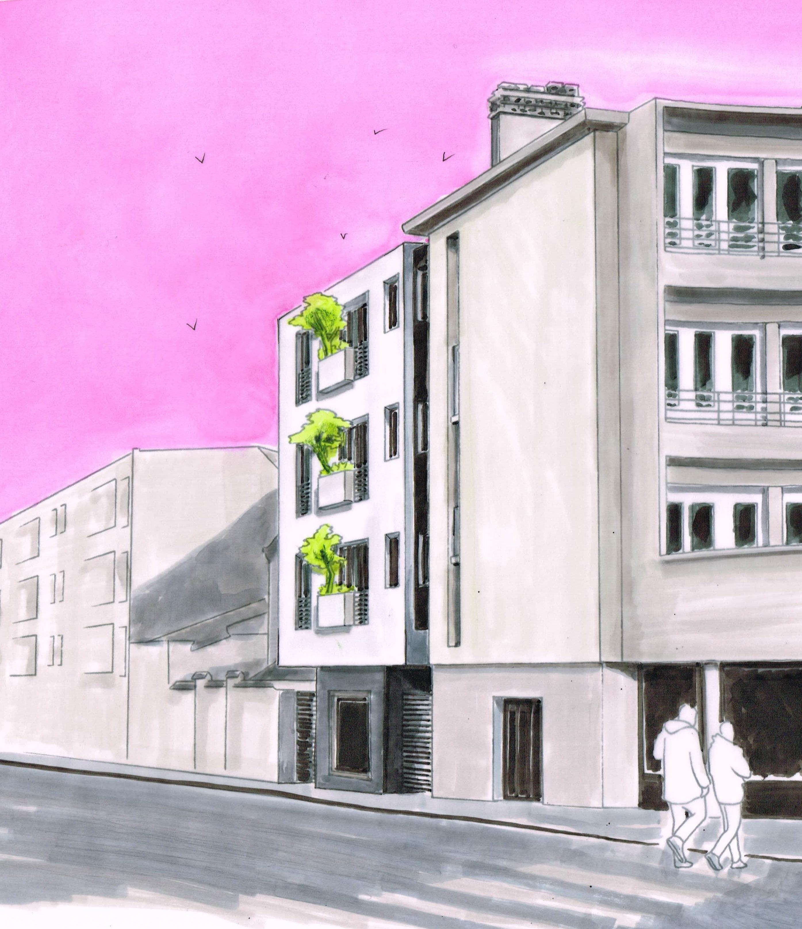 Petit collectif de 6 Logements neufs sur RDC commercial – Kremlin-Bicêtre