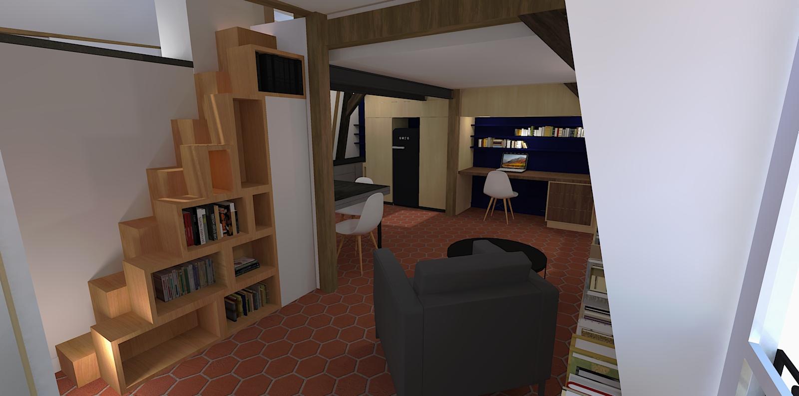 Appartement César, rue Saint Claude, paris 4, restructuration complète